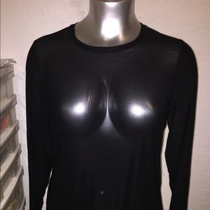 Sheer Mesh Long Sleeve Top